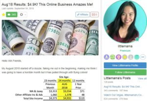 Income Proof at Wealthy Affiliate